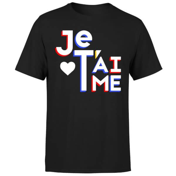 Je T'aime T-Shirt - Black