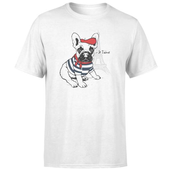 Je T'aime Frenchie T-Shirt - White
