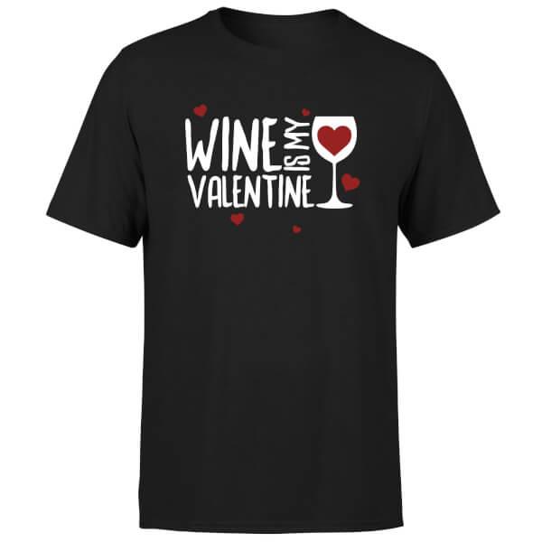 Wine Is My Valentine T-Shirt - Black