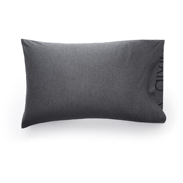 Calvin Klein Standard Pillowcase - Charcoal
