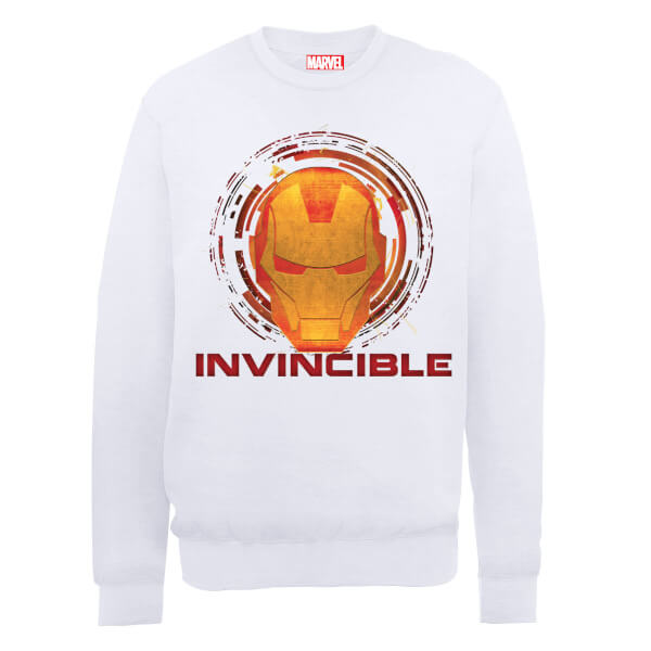 Marvel Avengers Assemble Iron Man Invincible Sweatshirt - White