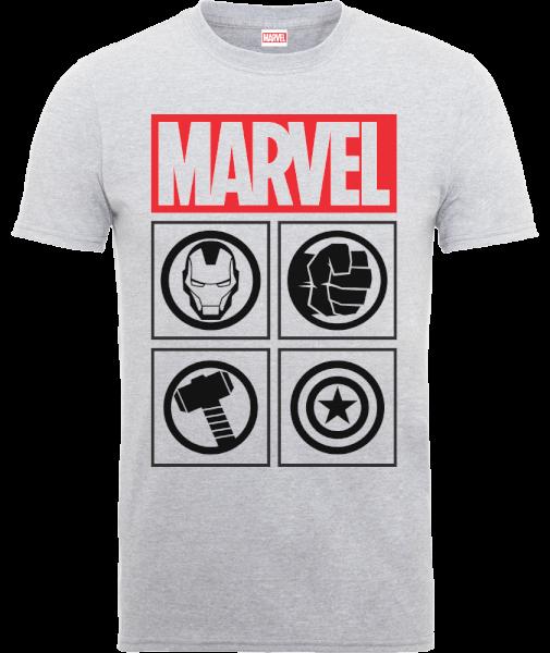 Marvel Avengers Assemble Icons T-Shirt - Grey