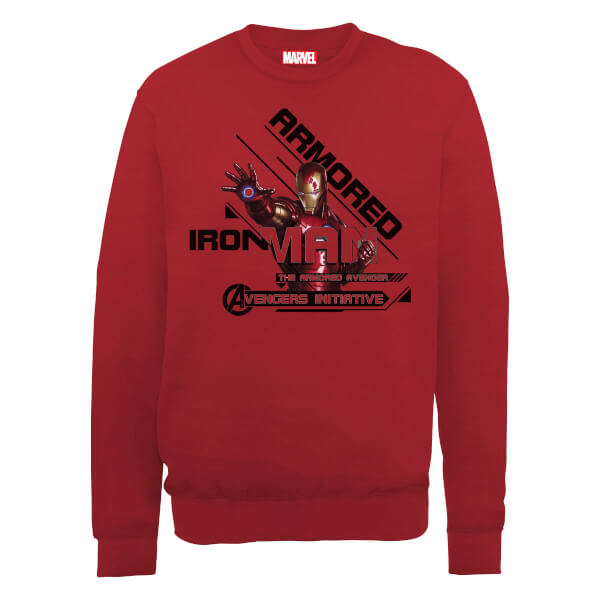 Marvel Avengers Assemble Armored Iron Man Sweatshirt - Red