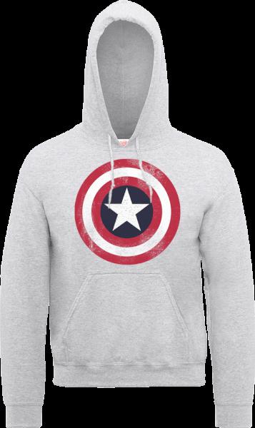 Marvel Avengers Assemble Captain America Distressed Shield Pullover ...