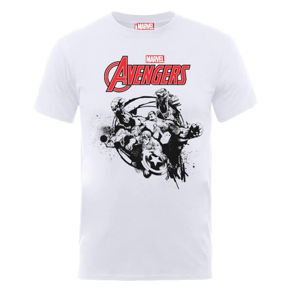 Marvel Avengers Team Burst T-Shirt - White