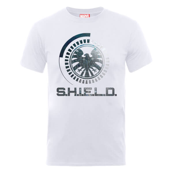 Marvel Avengers Assemble Shield Badge T-Shirt - White