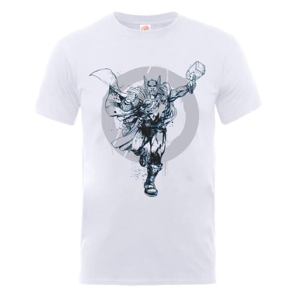 Marvel Avengers Assemble Thor Circle T-Shirt - White
