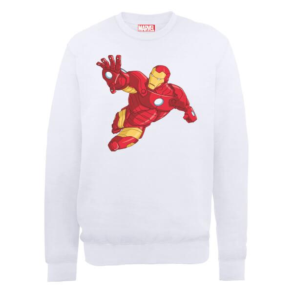 Marvel Avengers Assemble Iron Man Simple Sweatshirt - White