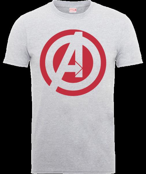 Marvel Avengers Assemble Captain America Logo T-Shirt - Grey