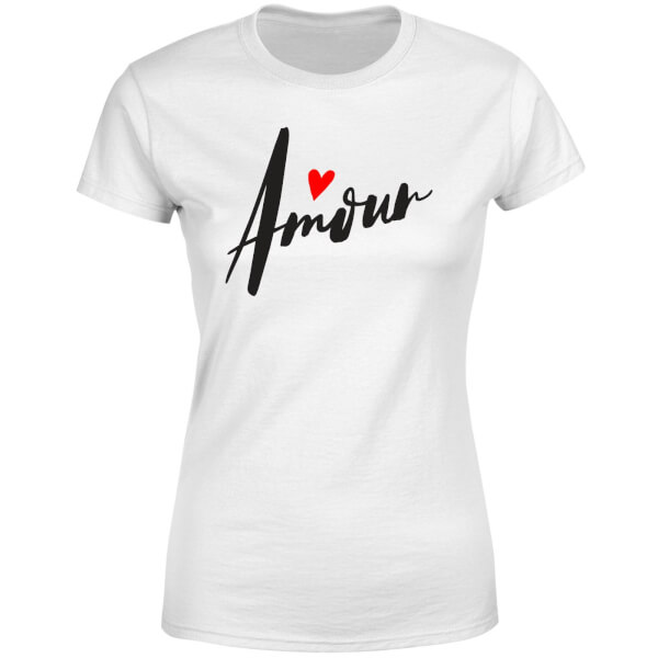 Amour Script Women's T-Shirt - White