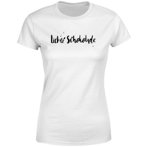 Lieber Schokolade Women's T-Shirt - White