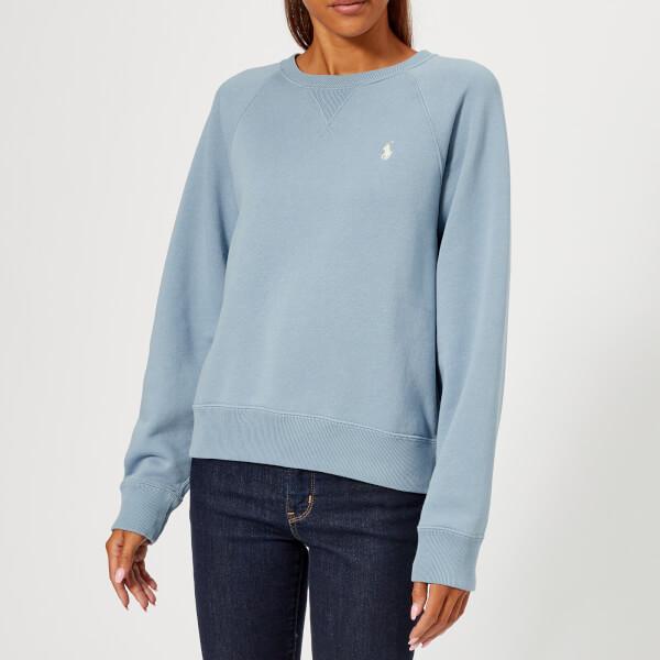 Polo Ralph Lauren Womens Logo Sweatshirt Channel Blue Free Uk
