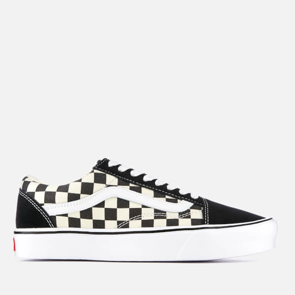 fef1efa009ad Vans Checkerboard Old Skool Lite Trainers - Black White Mens ...