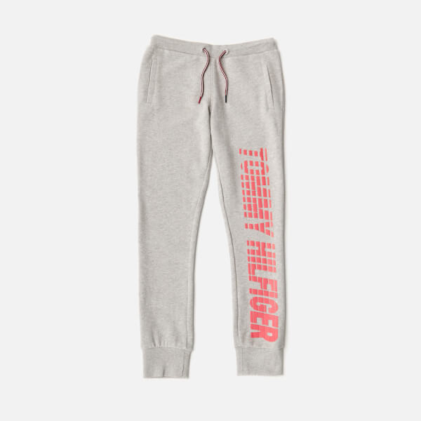 Tommy Hilfiger Girls' Ame Big Logo Sweatpants - Light Grey Heather
