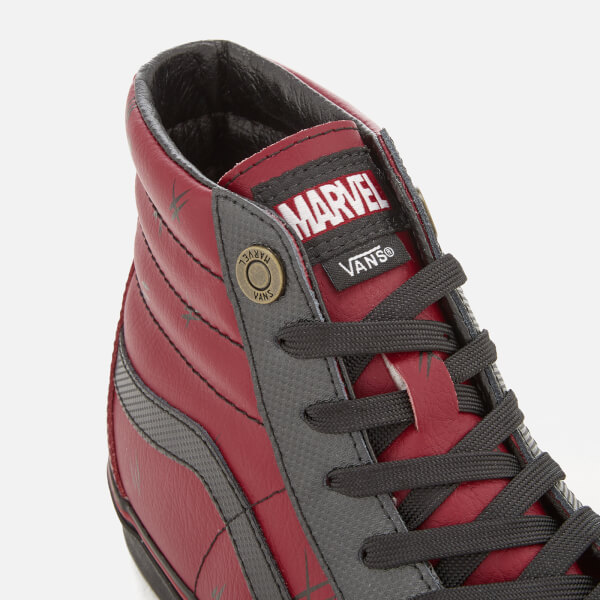 0f73e878d431 Vans Men s Marvel Deadpool Sk8 Hi-Top Trainers - Deadpool Black Mens ...