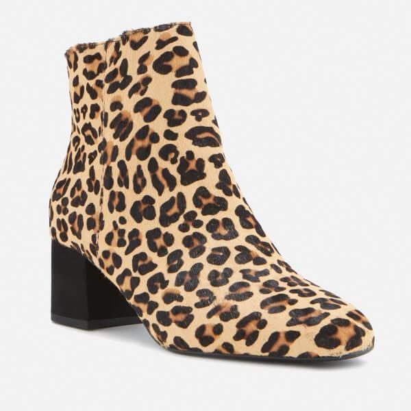 090669d1720 Dune Women s Olyvea Suede Heeled Ankle Boots - Leopard Womens ...