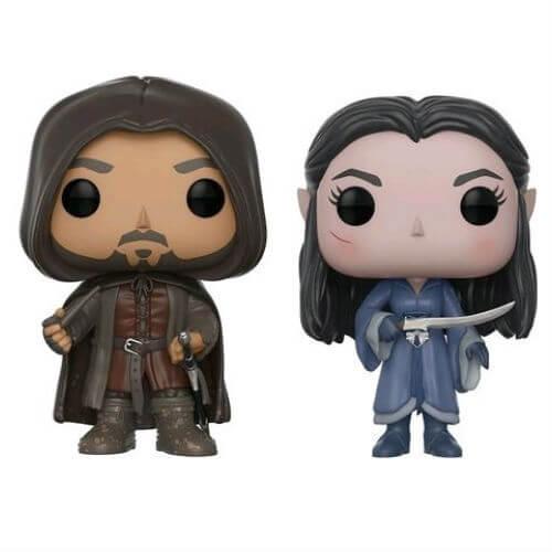 Lord of the Rings Aragorn & Arwen EXC Pop! Vinyl Figure 2-Pack