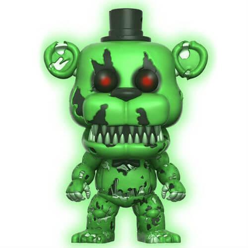 Five Nights at Freddy's Nightmare Freddy Green GITD EXC Pop! Vinyl Figure