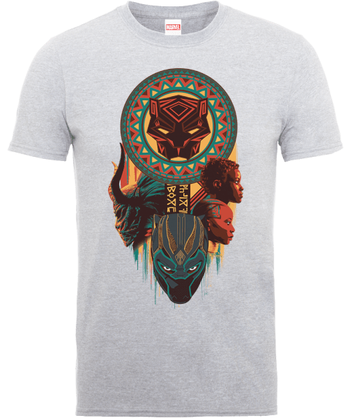 Black Panther Totem T-Shirt - Grey