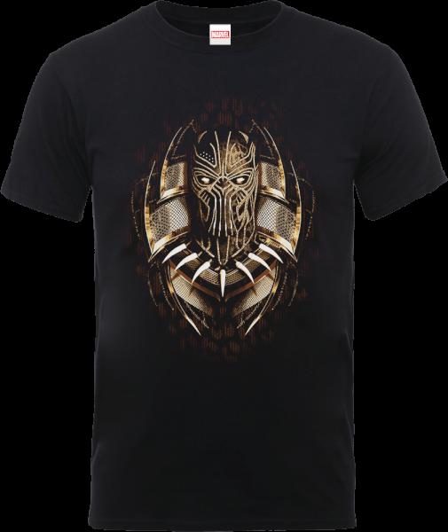 Black Panther Gold Erik T-Shirt - Black