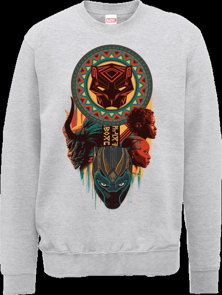 Black Panther Totem Sweatshirt - Grey