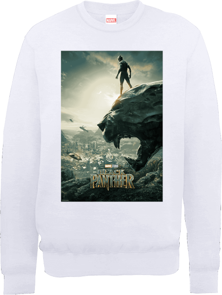 Black Panther Poster Sweatshirt - White