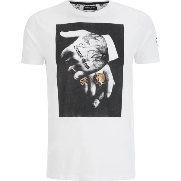 Brave Soul Men's Viggo T-Shirt - White