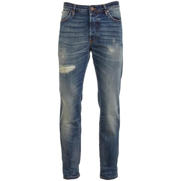 Jack & Jones Originals Men's Tim 790 Rip Slim Fit Jeans - Mid Wash