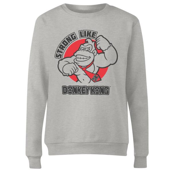 Nintendo Strong Like Donkey Kong Women's Sweatshirt - Grey