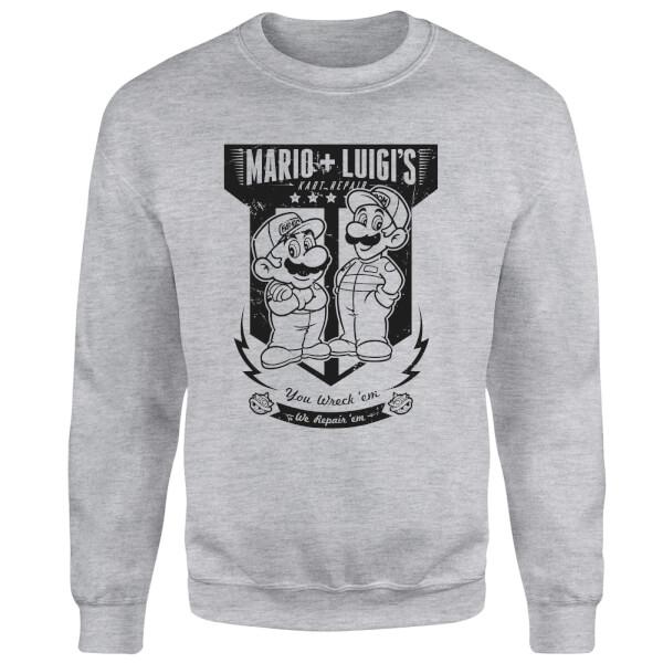 Mario Kart Fix-It Team Sweatshirt - Grey