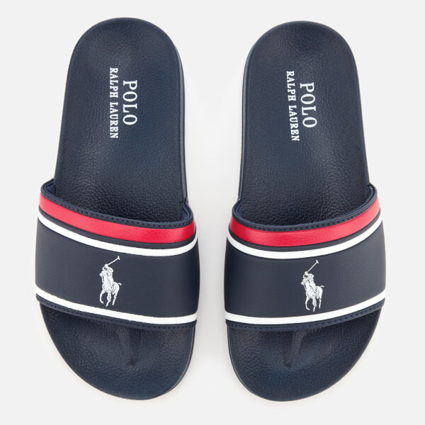 Polo Ralph Lauren Kids' Quilton Slide Sandals - Navy/White
