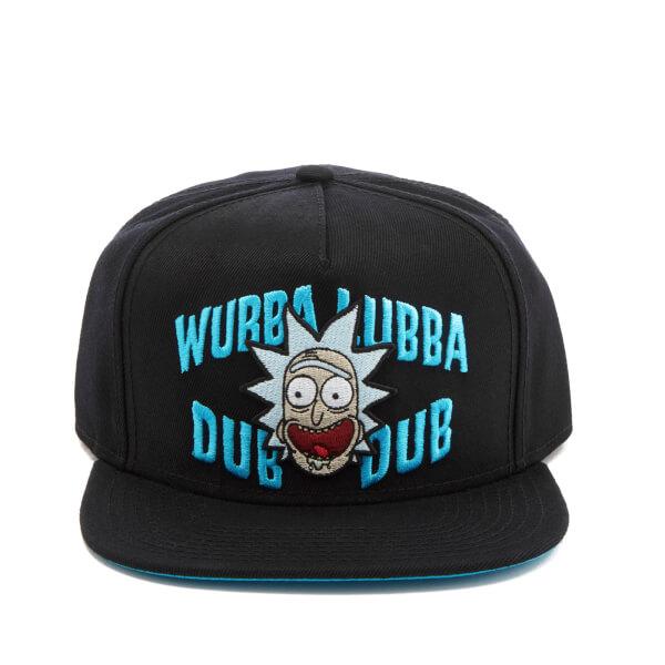Rick and Morty Men's Embroidery Rick Snapback Cap - Black