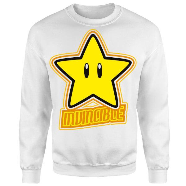 Nintendo Super Mario Invincible Sweatshirt - White