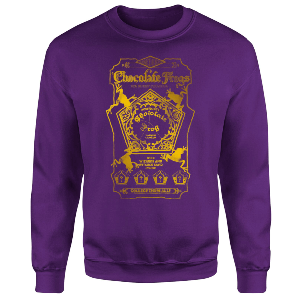 Harry Potter Honeydukes Chocolate Frogs Sweatshirt - Purple