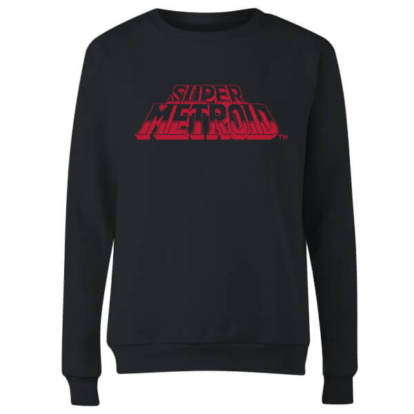 Nintendo Super Metroid Retro Logo Women's Sweatshirt - Black