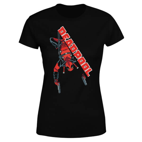 Marvel Deadpool Hang Split Women's T-Shirt - Black