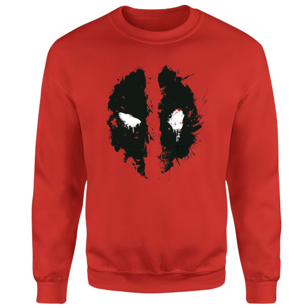 Marvel Deadpool Splat Face Sweatshirt - Red
