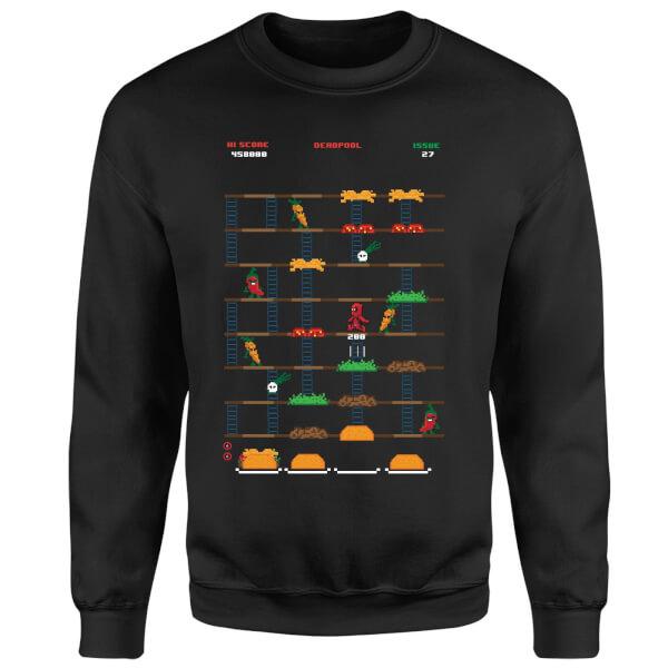 Marvel Deadpool Retro Game Sweatshirt - Black