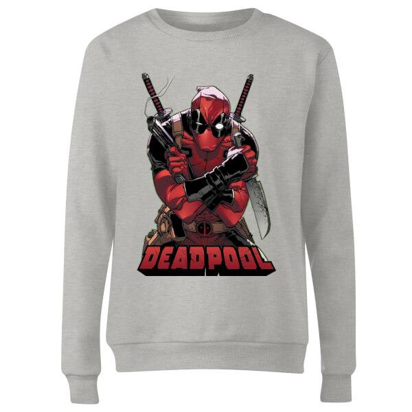 Marvel Deadpool Ready For Action Women's Sweatshirt - Grey