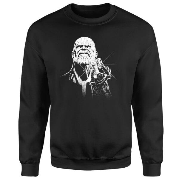 Marvel Avengers Infinity War Fierce Thanos Sweatshirt - Black