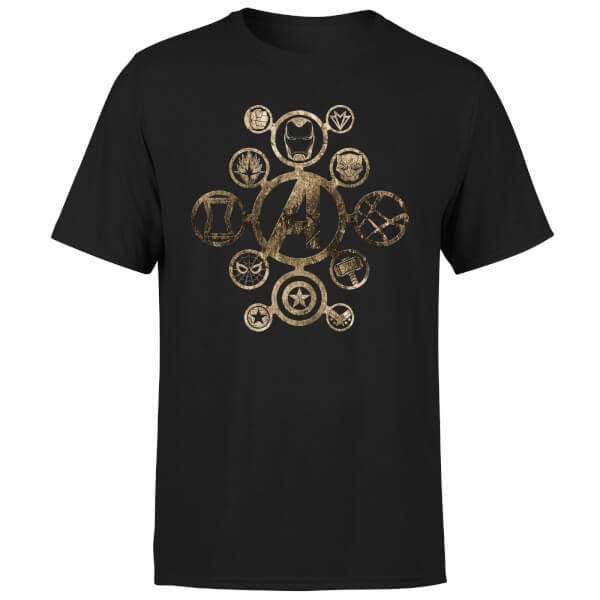 Marvel Avengers Infinity War Icon T-Shirt - Black: Image 1