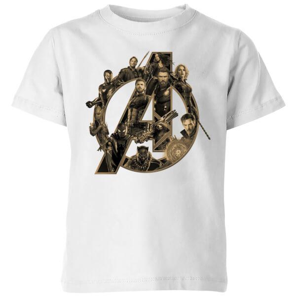 Marvel Avengers Infinity War Avengers Logo Kids' T-Shirt - White