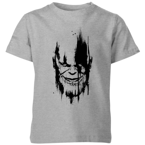 Marvel avengers infinity war thanos face kids 39 t shirt for Snap t shirt printing