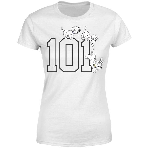 Disney 101 Dalmatians 101 Doggies Women's T-Shirt - White