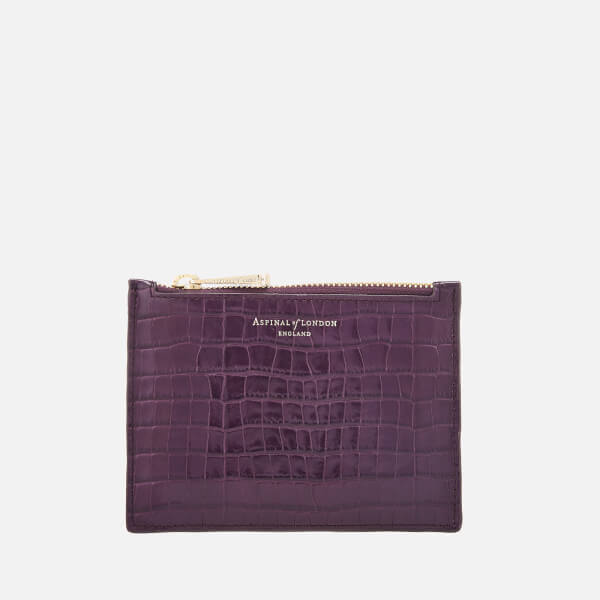 Aspinal Of London Women's Essential Pouch Small   Amethyst by My Bag