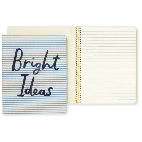 Kate Spade Concealed Spiral Notebook - Bright Ideas Seersucker