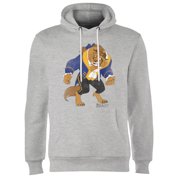 Disney Beauty And The Beast Classic Hoodie - Grey