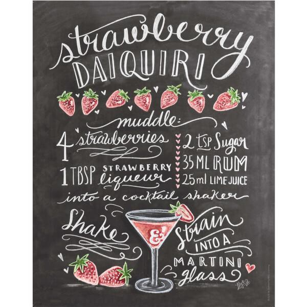 Lily & Val Strawberry Daiquiri Print