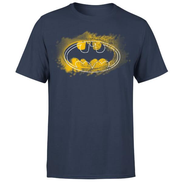 DC Comics Batman Spray Logo T-Shirt - Navy