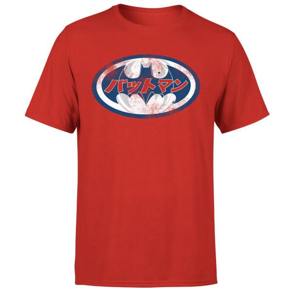DC Comics Batman Japanese Logo T-Shirt - Red